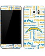 Los Angeles Chargers White Blast Galaxy S6 Edge Skin