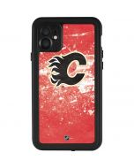 Calgary Flames Frozen iPhone 11 Waterproof Case
