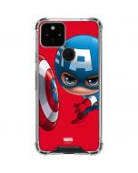 Baby Captain America Google Pixel 5 Clear Case
