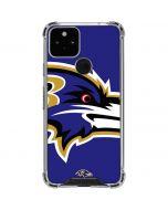 Baltimore Ravens Large Logo Google Pixel 5 Clear Case