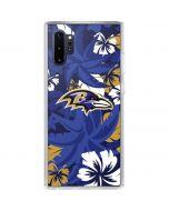 Baltimore Ravens Tropical Print Galaxy Note 10 Plus Clear Case