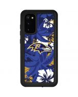 Baltimore Ravens Tropical Print Galaxy S20 Waterproof Case