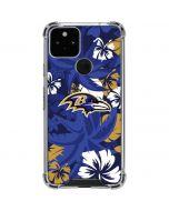 Baltimore Ravens Tropical Print Google Pixel 5 Clear Case