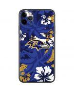Baltimore Ravens Tropical Print iPhone 11 Pro Max Skin