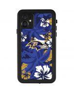 Baltimore Ravens Tropical Print iPhone 11 Waterproof Case