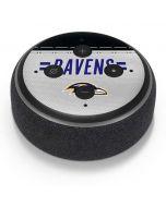 Baltimore Ravens White Striped Amazon Echo Dot Skin