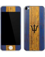 Barbados Flag Dark Wood Apple iPod Skin