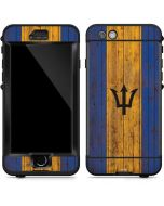 Barbados Flag Dark Wood LifeProof Nuud iPhone Skin