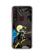 Batgirl Mixed Media Moto G8 Plus Clear Case