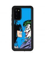 Batman vs Joker - Blue Background Galaxy S20 Waterproof Case