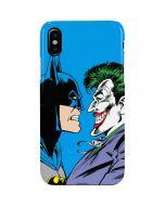 Batman vs Joker - Blue Background iPhone XS Max Lite Case