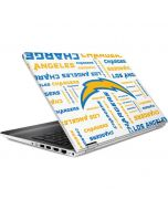 Los Angeles Chargers White Blast HP Pavilion Skin