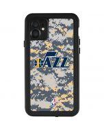 Utah Jazz Grey Digi Camo iPhone 11 Waterproof Case