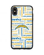 Los Angeles Chargers White Blast Otterbox Symmetry iPhone Skin