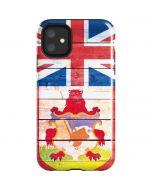 Bermuda Flag Light Wood iPhone 11 Impact Case