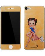 Betty Boop and Puppy Orange Background Apple iPod Skin