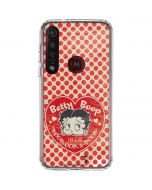 Betty Boop Red Heart Moto G8 Plus Clear Case