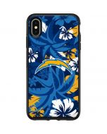 Los Angeles Chargers Tropical Print Otterbox Symmetry iPhone Skin
