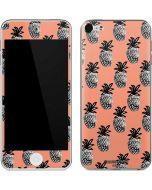 Gray Scale Pineapple Apple iPod Skin
