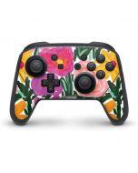 Painterly Garden Nintendo Switch Pro Controller Skin