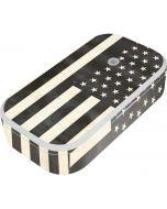 Black & White USA Flag UV Phone Sanitizer and Wireless Charger Skin