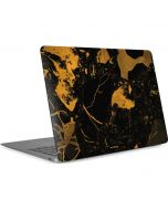Black and Gold Scattered Marble Apple MacBook Air Skin