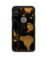 Black and Gold Scattered Marble Otterbox Commuter iPhone Skin