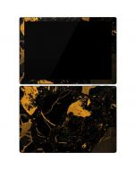 Black and Gold Scattered Marble Surface Pro 7 Skin