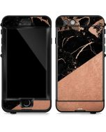 Black and Rose Gold Marble Split LifeProof Nuud iPhone Skin