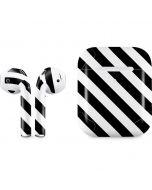 Black and White Geometric Stripes Apple AirPods 2 Skin