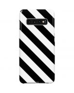 Black and White Geometric Stripes Galaxy S10 Plus Lite Case