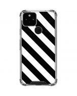 Black and White Geometric Stripes Google Pixel 5 Clear Case