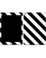 Black and White Geometric Stripes Apple iPad Skin