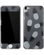 Black and White Pineapples Apple iPod Skin