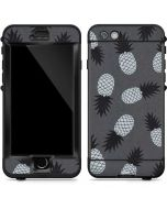 Black and White Pineapples LifeProof Nuud iPhone Skin