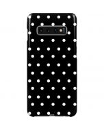 Black and White Polka Dots Galaxy S10 Plus Lite Case