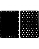 Black and White Polka Dots Apple iPad Skin