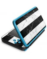 Black and White Striped Marble 2DS XL (2017) Skin