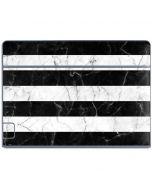 Black and White Striped Marble Galaxy Book Keyboard Folio 10.6in Skin
