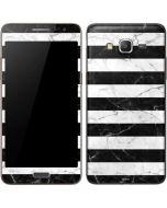 Black and White Striped Marble Galaxy Grand Prime Skin