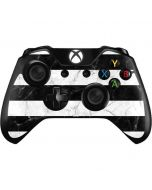 Black and White Striped Marble Xbox One Controller Skin