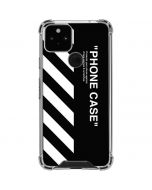 Black and White Stripes Google Pixel 5 Clear Case