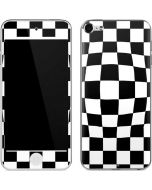 Black and White Zoomed Checkerboard Apple iPod Skin