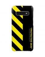 Black and Yellow Stripes Galaxy S10 Plus Lite Case