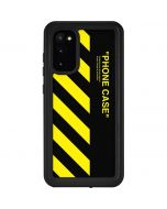 Black and Yellow Stripes Galaxy S20 Waterproof Case