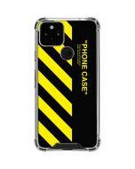 Black and Yellow Stripes Google Pixel 5 Clear Case