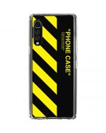 Black and Yellow Stripes LG Velvet Clear Case
