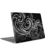 Black Flourish Apple MacBook Air Skin