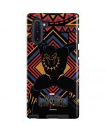 Black Panther Tribal Print Galaxy Note 10 Pro Case