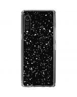 Black Speckle LG Velvet Clear Case